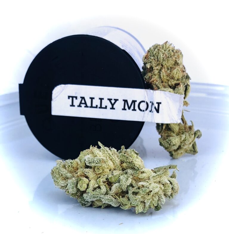 tally mon buds next to container batch two