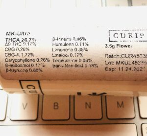 mk ultra terpene label