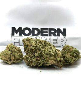 alternate view of element buds in front of white modern flower ziplock bag