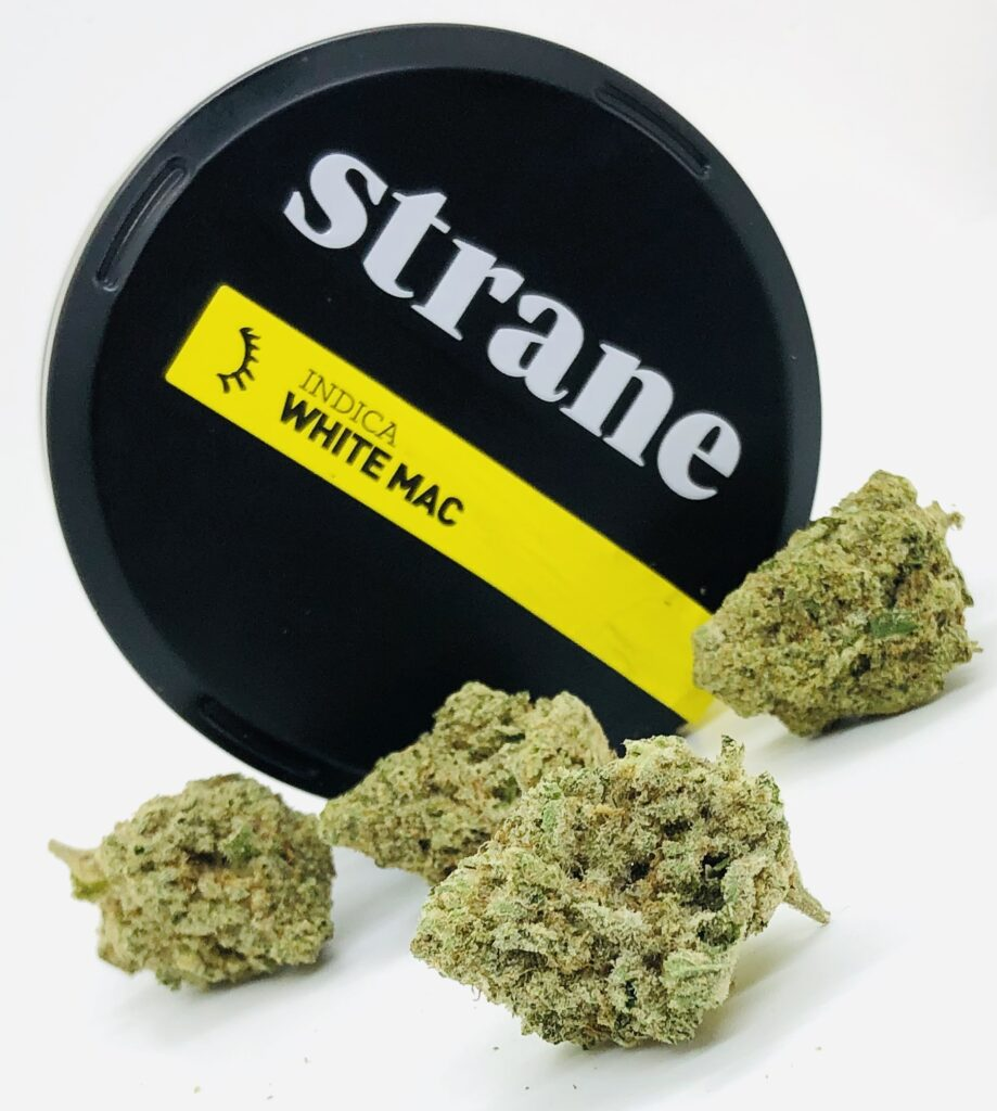 selection of white mac strain buds by strane