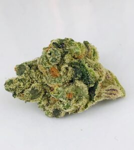 conically shaped bud of G6 Jet Fuel by Verano