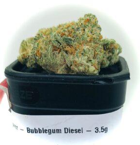 bud of bubblegum diesel on container top