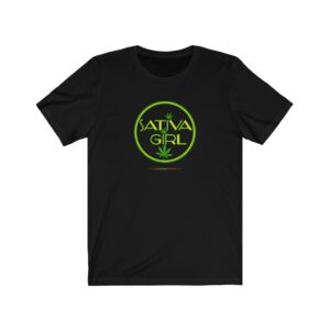 Sativa Girl Motif Unisex Jersey Short Sleeve Tee